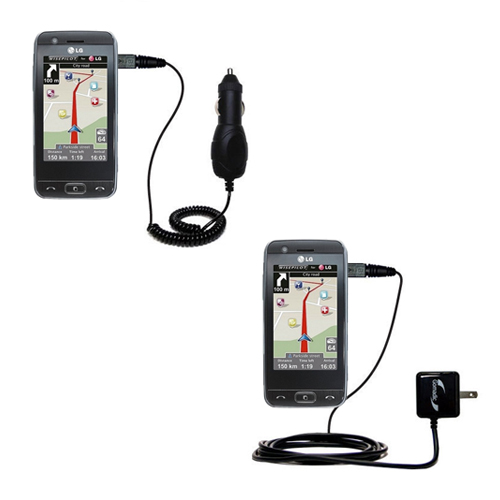 Car & Home Charger Kit compatible with the LG GT505