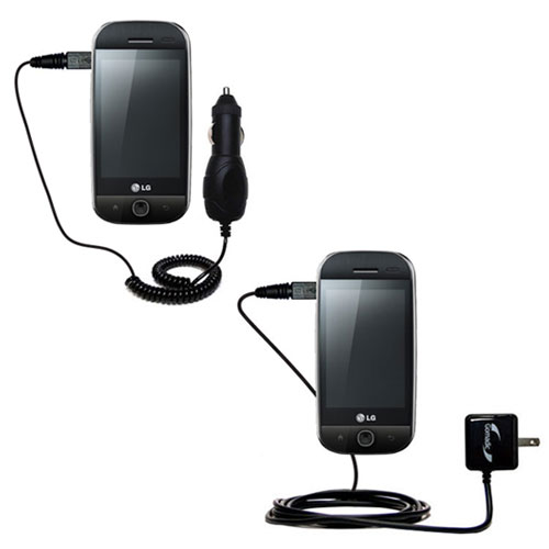 Car & Home Charger Kit compatible with the LG GW620