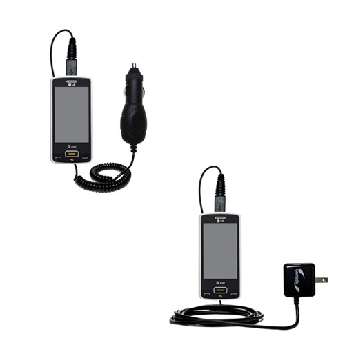 Car & Home Charger Kit compatible with the LG GW820 eXpo