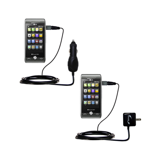 Car & Home Charger Kit compatible with the LG GX500
