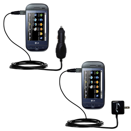 Car & Home Charger Kit compatible with the LG InTouch Max