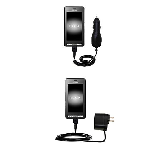 Car & Home Charger Kit compatible with the LG KE850 Prada