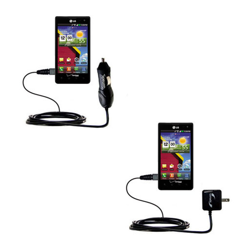 Car & Home Charger Kit compatible with the LG Lucid 1 / 2 / 3