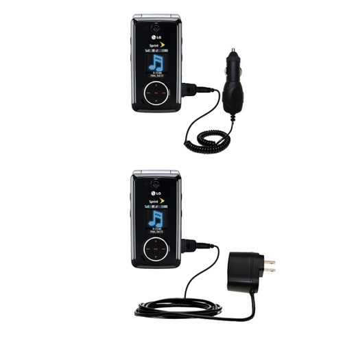 Car & Home Charger Kit compatible with the LG LX570 / LX-570