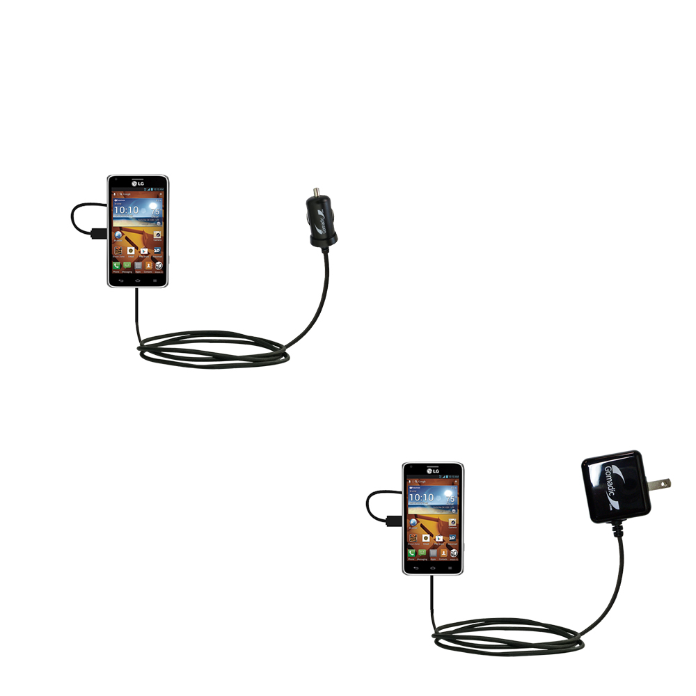 Car & Home Charger Kit compatible with the LG Mach