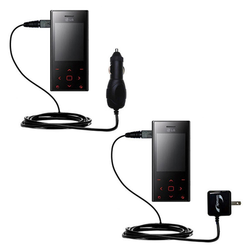 Car & Home Charger Kit compatible with the LG New Chocolate BL20
