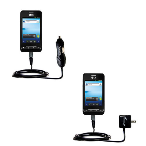 Car & Home Charger Kit compatible with the LG Optimus 2