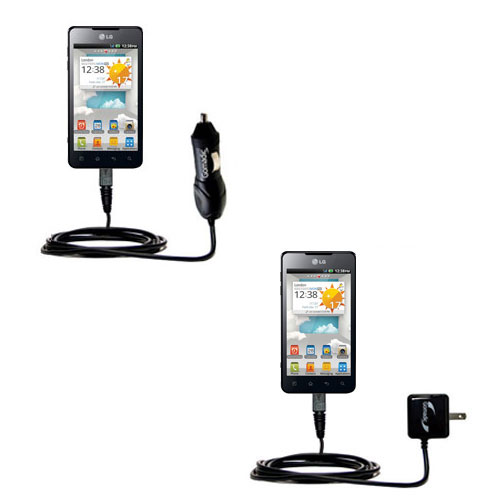 Car & Home Charger Kit compatible with the LG Optimus 3D Cube