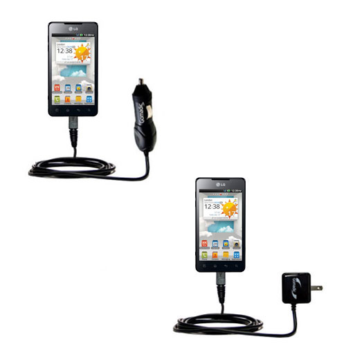 Car & Home Charger Kit compatible with the LG Optimus 3D Max