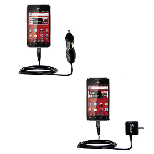 Car & Home Charger Kit compatible with the LG Optimus Elite