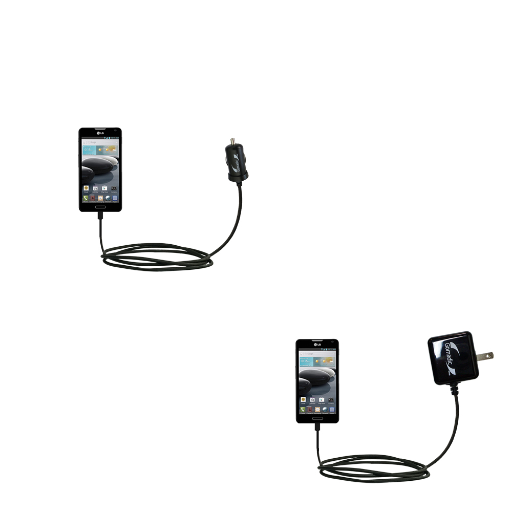 Car & Home Charger Kit compatible with the LG Optimus F6