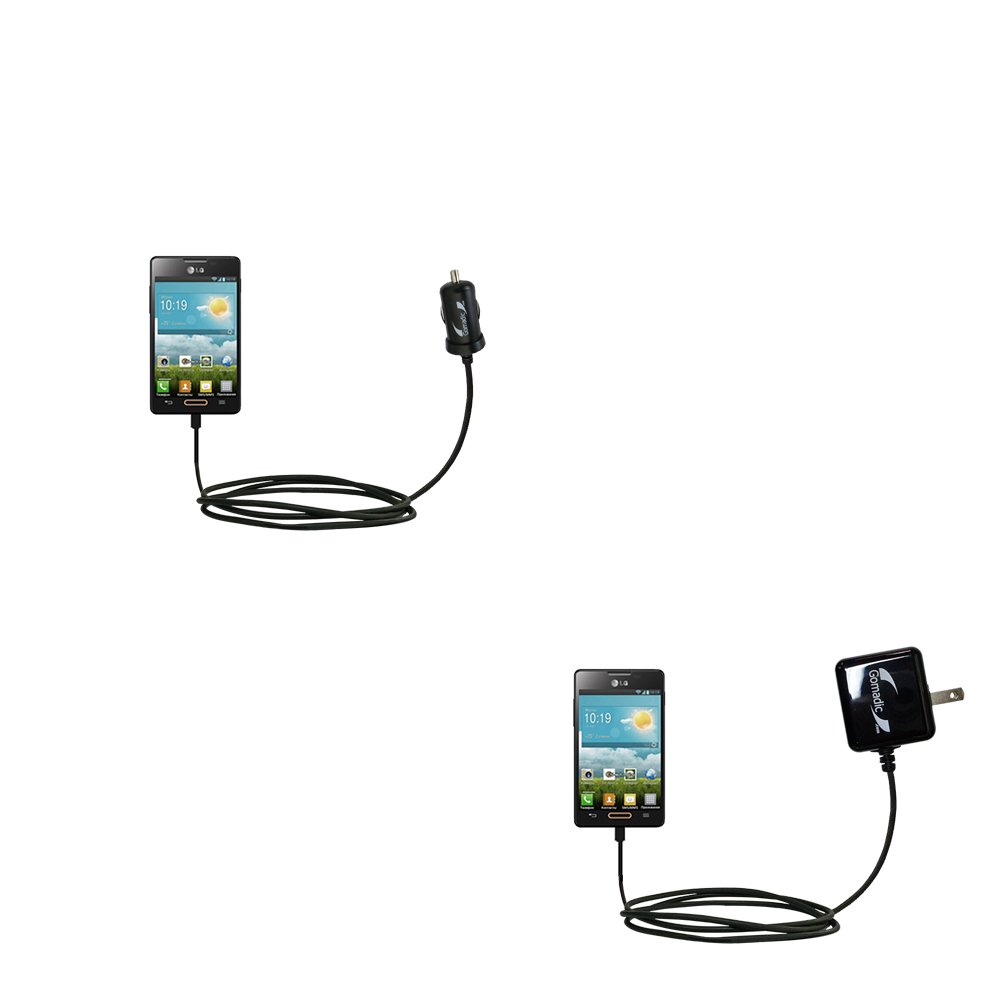 Car & Home Charger Kit compatible with the LG Optimus L4 II