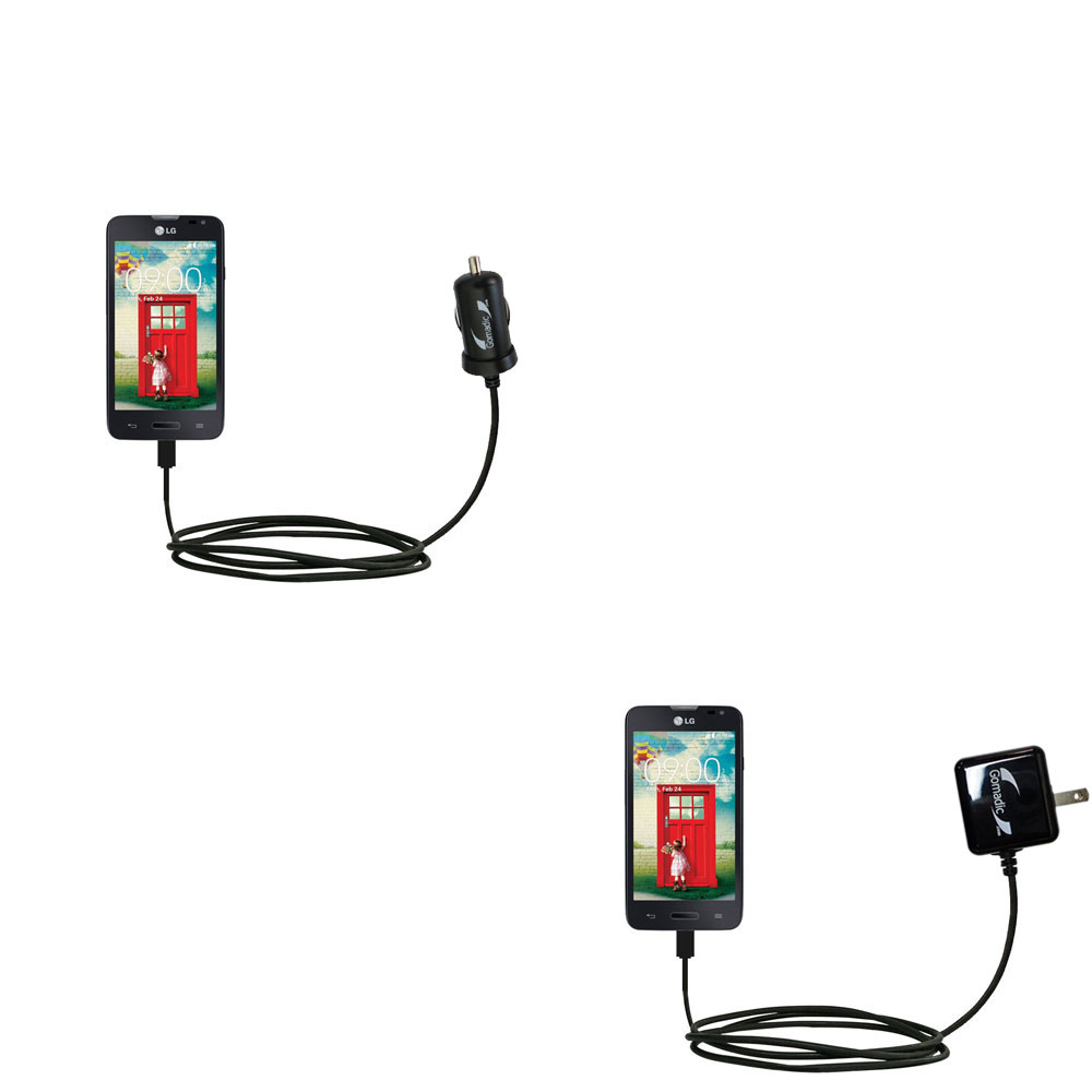 Car & Home Charger Kit compatible with the LG Optimus L70