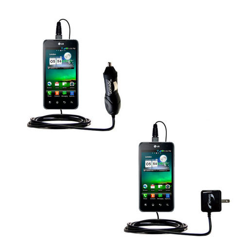 Car & Home Charger Kit compatible with the LG Optimus True HD