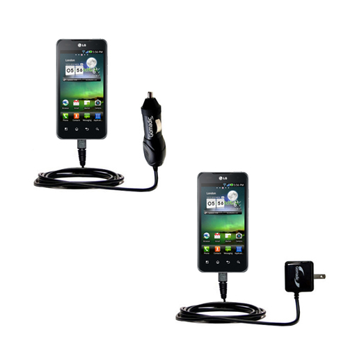 Car & Home Charger Kit compatible with the LG Optimus Two