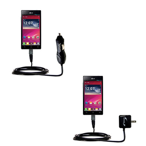 Car & Home Charger Kit compatible with the LG P880