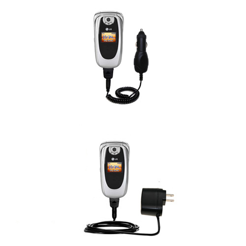 Car & Home Charger Kit compatible with the LG PM-225 PM-325