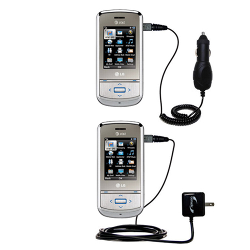 Car & Home Charger Kit compatible with the LG Shine II GD710