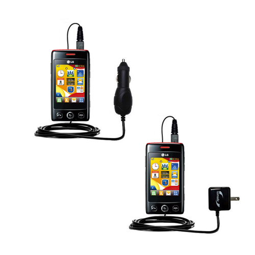 Car & Home Charger Kit compatible with the LG T300