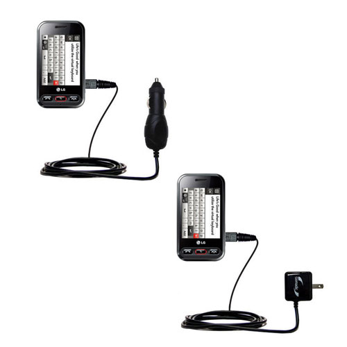 Car & Home Charger Kit compatible with the LG T320