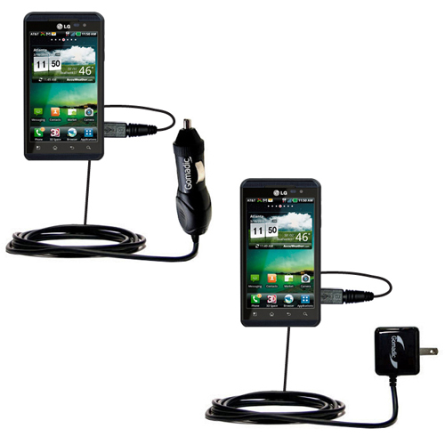 Car & Home Charger Kit compatible with the LG Thrill 4G