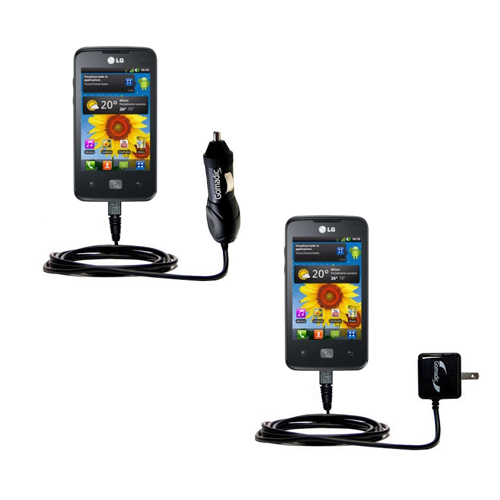 Car & Home Charger Kit compatible with the LG Univa