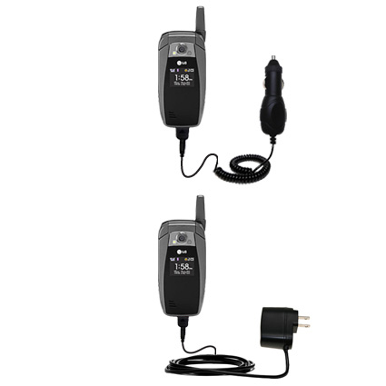 Car & Home Charger Kit compatible with the LG UX355