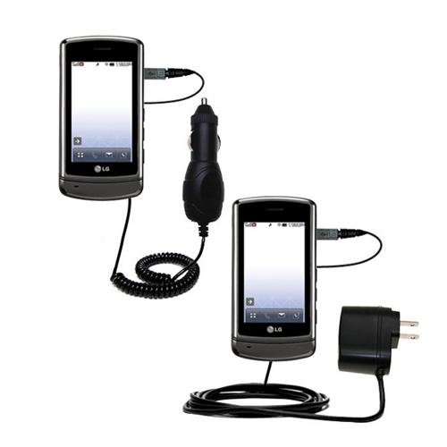 Car & Home Charger Kit compatible with the LG UX830 UX840