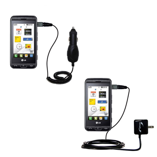 Car & Home Charger Kit compatible with the LG Viewty Smile