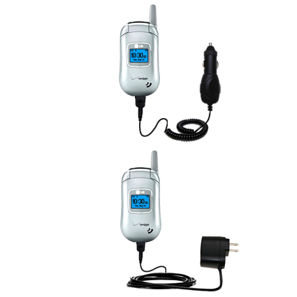 Car & Home Charger Kit compatible with the LG VX3450