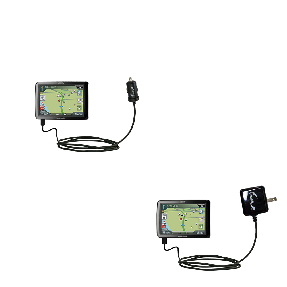 High Output Power with a Convenient Foldable Plug Design Uses TipExchange Technology Gomadic Intelligent Compact AC Home Wall Charger Suitable for The Magellan Roadmate RV9365T-LMB