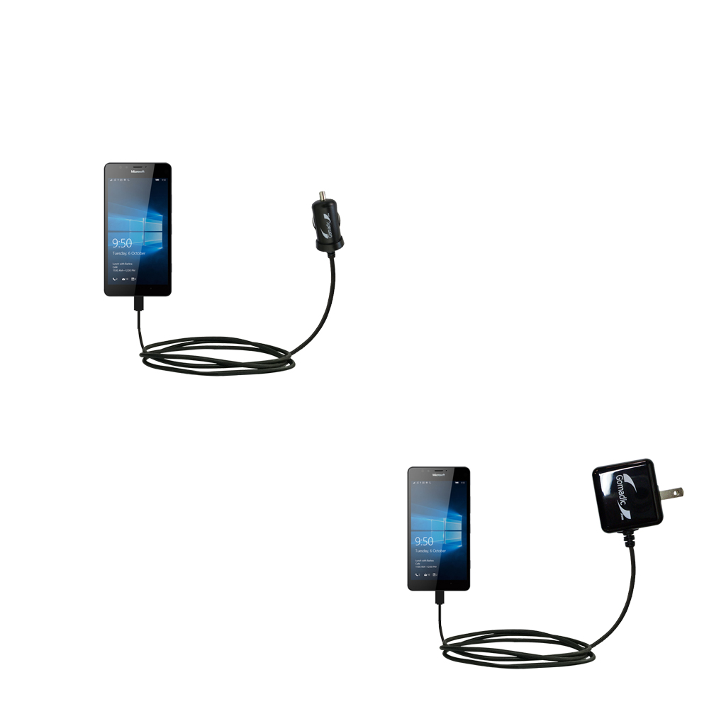 Car & Home Charger Kit compatible with the Microsoft Lumia 950