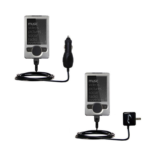 Car & Home Charger Kit compatible with the Microsoft Zune (2nd and Latest Generation)