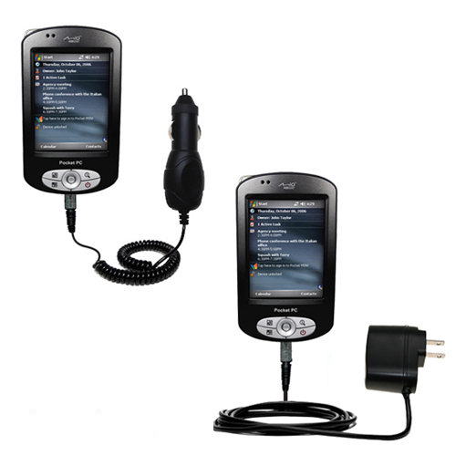 Car & Home Charger Kit compatible with the Mio P550