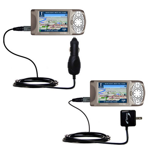 Car & Home Charger Kit compatible with the Navman iCN 650