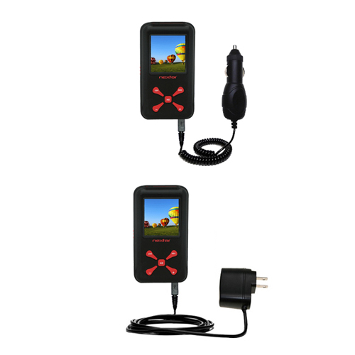 Car & Home Charger Kit compatible with the Nextar MA715