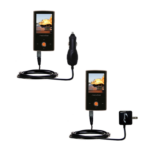 Car & Home Charger Kit compatible with the Nextar MA791 MA794 MA797