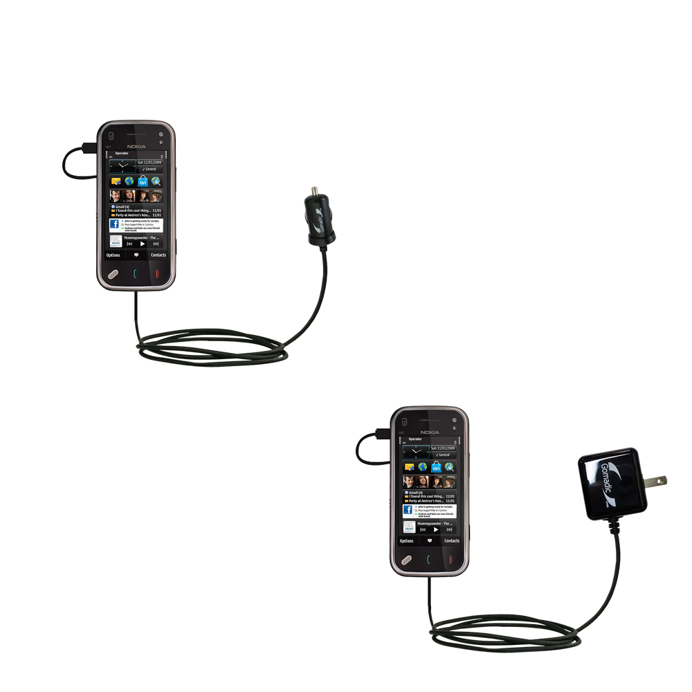 Car & Home Charger Kit compatible with the Nokia N97 Mini
