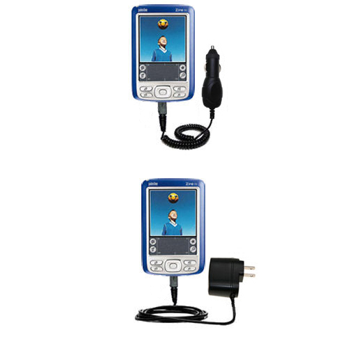 Car & Home Charger Kit compatible with the Palm palm Zire 72s