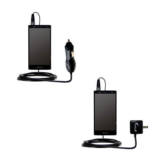 Car & Home Charger Kit compatible with the Panasonic ELUGA Power