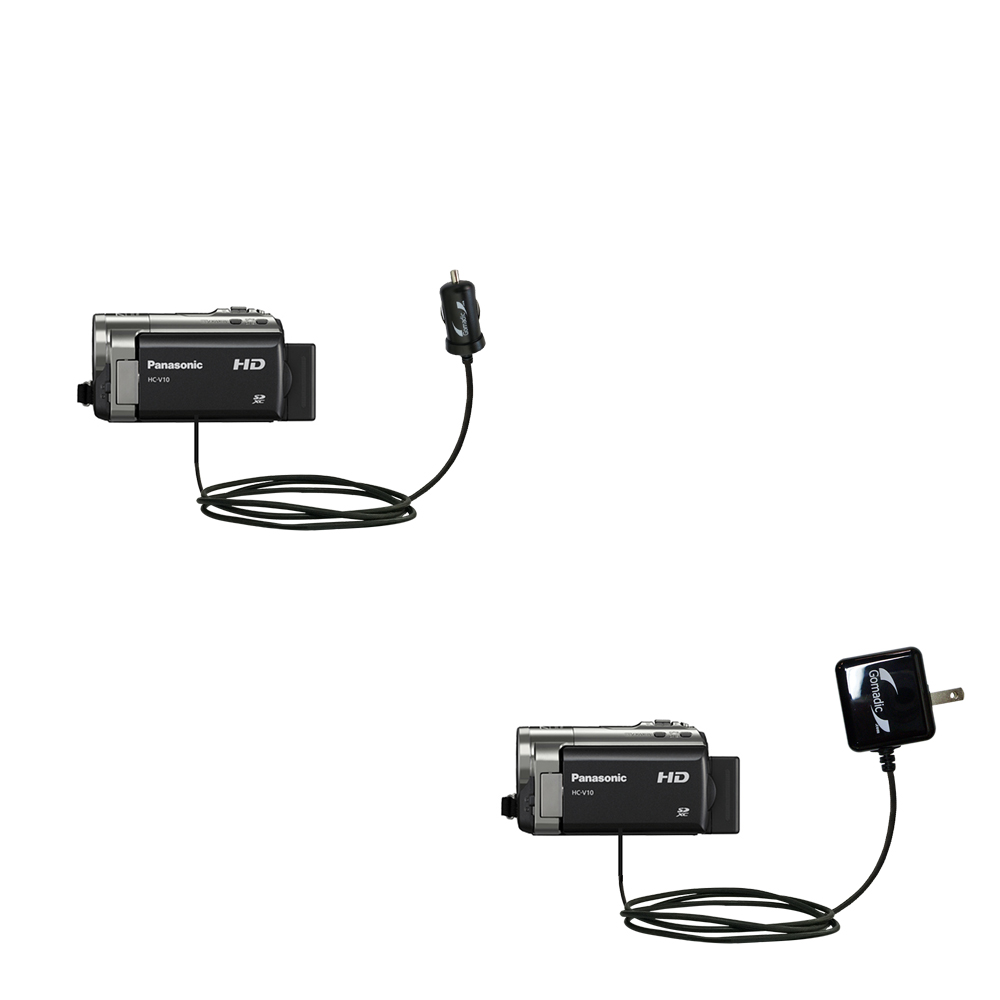 Car & Home Charger Kit compatible with the Panasonic HC-V10