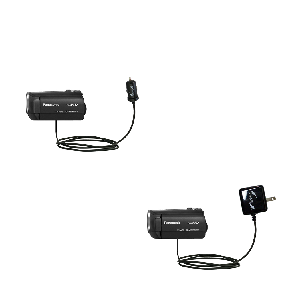 Car & Home Charger Kit compatible with the Panasonic HC-V210