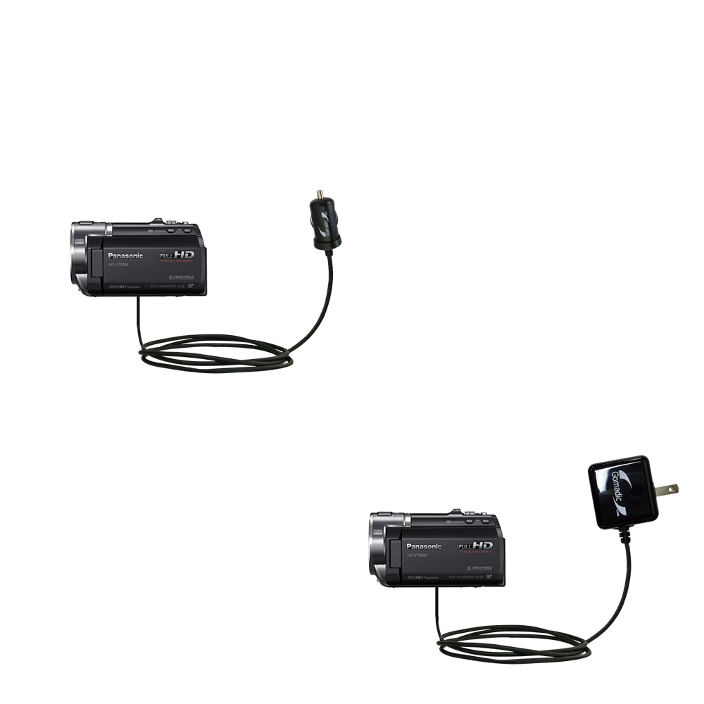 Car & Home Charger Kit compatible with the Panasonic HC-V700