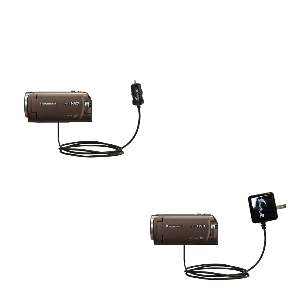 Car & Home Charger Kit compatible with the Panasonic HC-W580