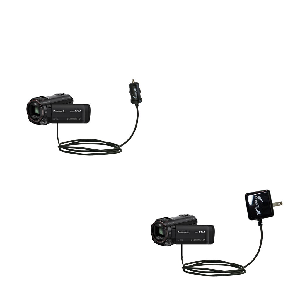 Car & Home Charger Kit compatible with the Panasonic HC-W850 / W850