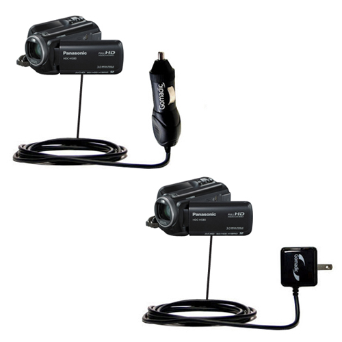 Car & Home Charger Kit compatible with the Panasonic HDC-HS80 Camcorder