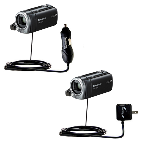 Car & Home Charger Kit compatible with the Panasonic HDC-SD40 Camcorder