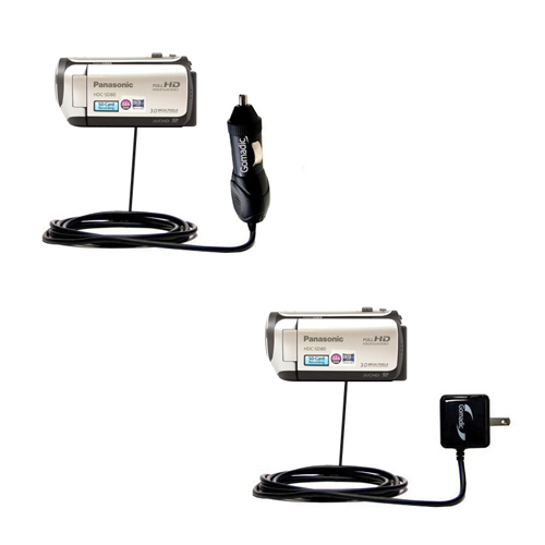 Car & Home Charger Kit compatible with the Panasonic HDC-SD80 Camcorder