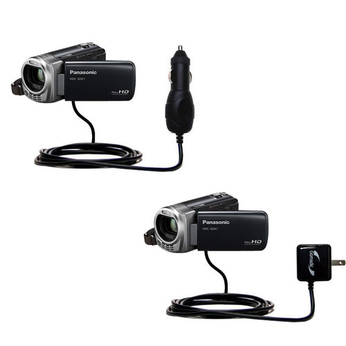 Car & Home Charger Kit compatible with the Panasonic HDC-SDX1H HD Camcorder