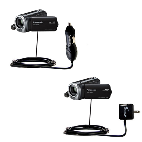 Car & Home Charger Kit compatible with the Panasonic HDC-TM40 HDC-TM41